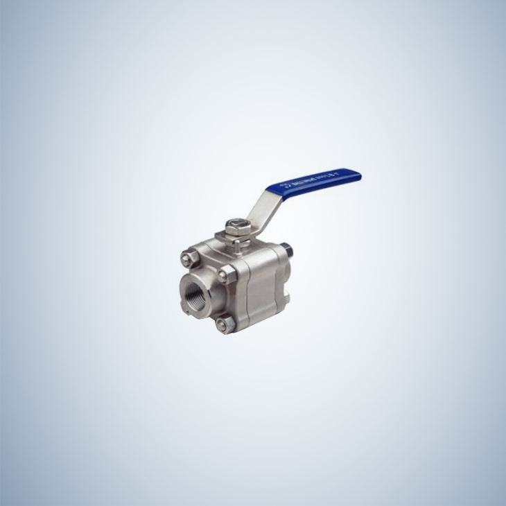 1 Inch Lever 3 Piece Bolted Ball Valve