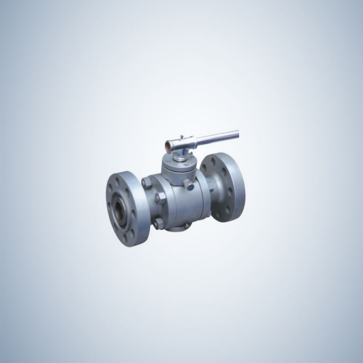 A105 Forged Steel Trunnion Ball Valve with Lever Operation
