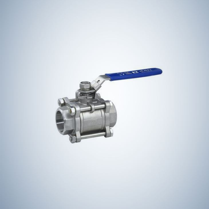 Cf8M Mini 3 Piece Bolted Ball Valve