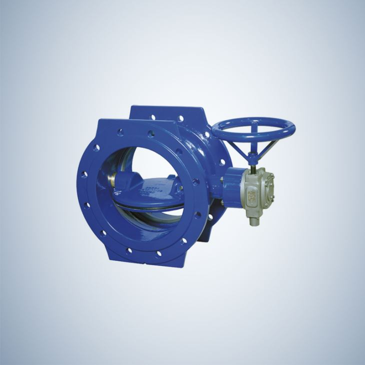 Double Flanged Manual Operated Double Offset Butterfly Valve