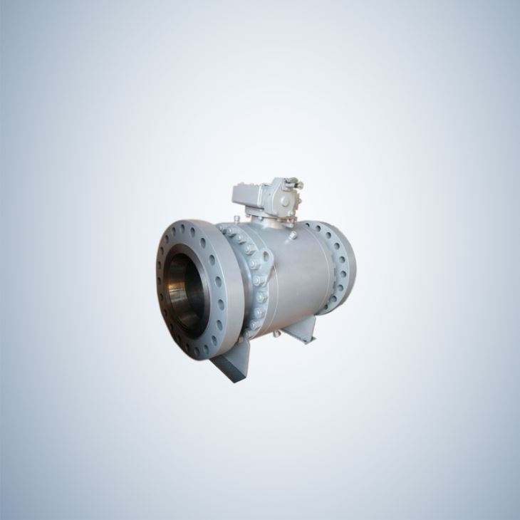 Flanged End Cast Steel Trunnion Ball Valve