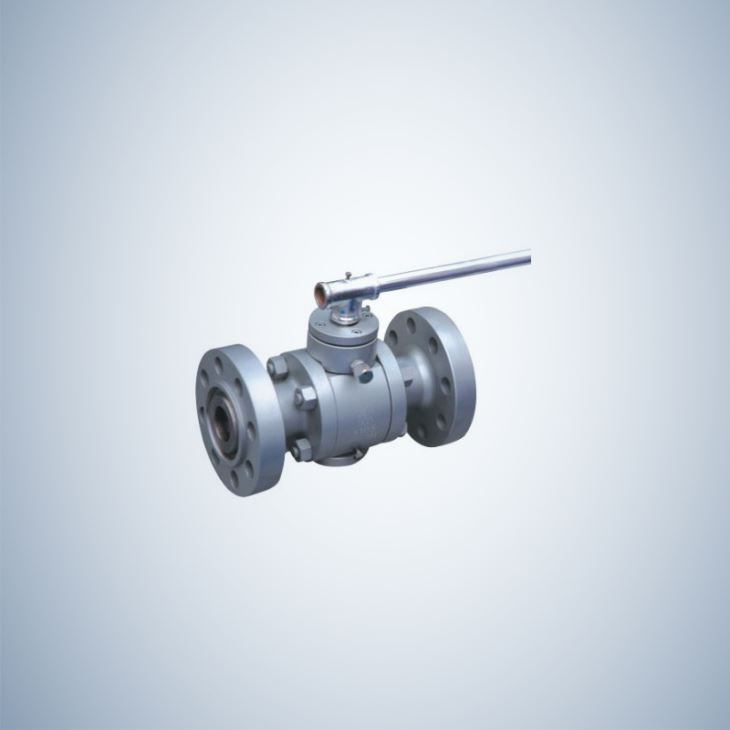Lever Operated 3 Piece forged Steel Trunnion Ball Valve