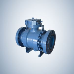 API 6D Flanged Ends Cast Steel Trunnion Ball Valve