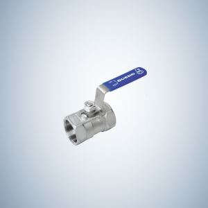 Cf8 Cast Steel 1 Piece Threaded Ball Valve