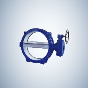 Design Cast Iron Double Offset Butterfly Valve