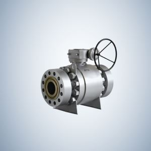 Split Body Gear Operated Flanged Ends Casting Trunnion Ball Valve
