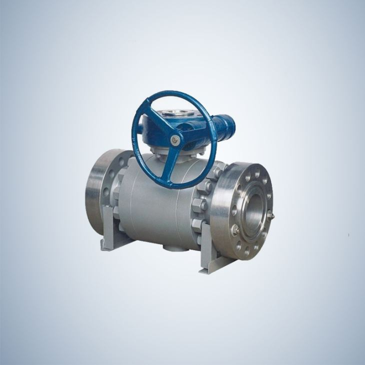 Split Body 3 Piece Flanged Type forged Steel Trunnion Ball Valve