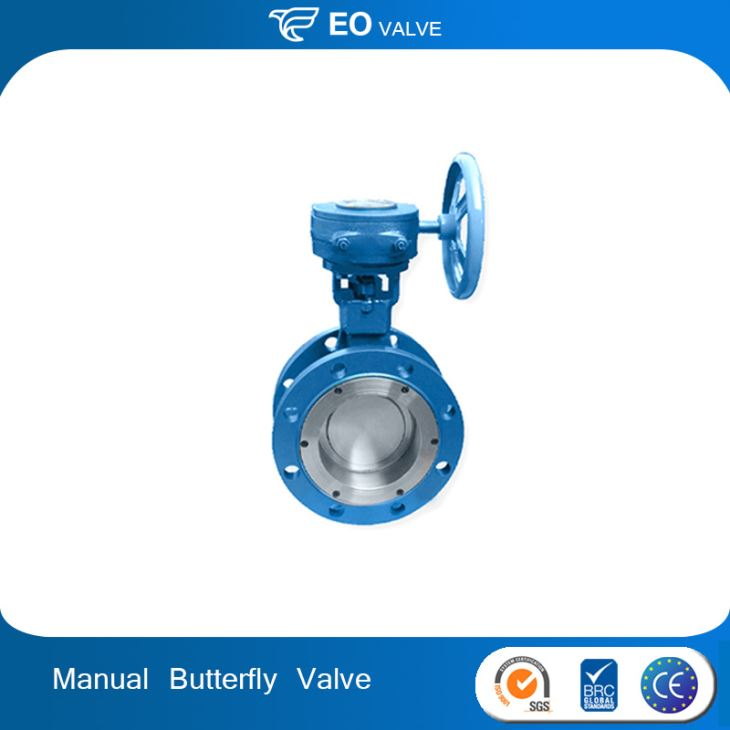 Antirust Worm Gear Operated Double Flange Butterfly Valve