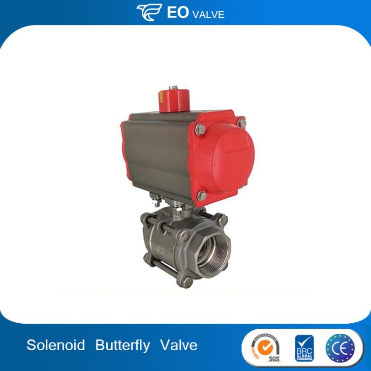 Butterfly Actuator Heat Resistant Ball Valve
