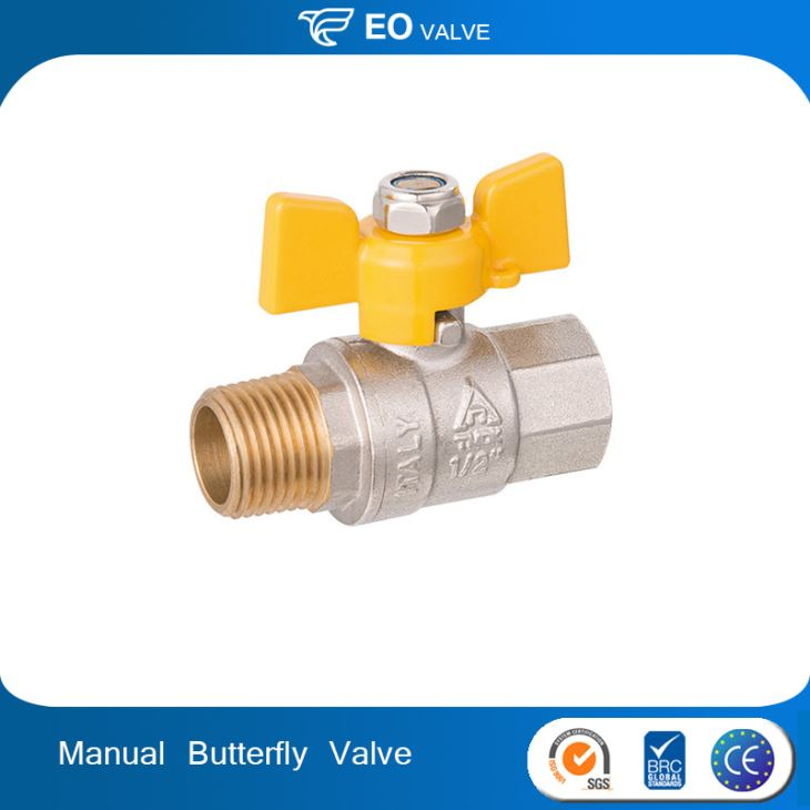 Butterfly Handle Copper Union Ball Valve Thread Ball Valve
