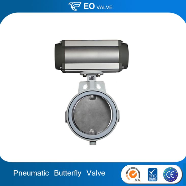 Carbon Steel Wafer Type Linear Pneumatic Butterfly Valve