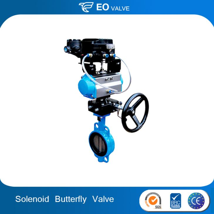 Cast Iron Pneumatic Actuator Butterfly Valve With Handwheel