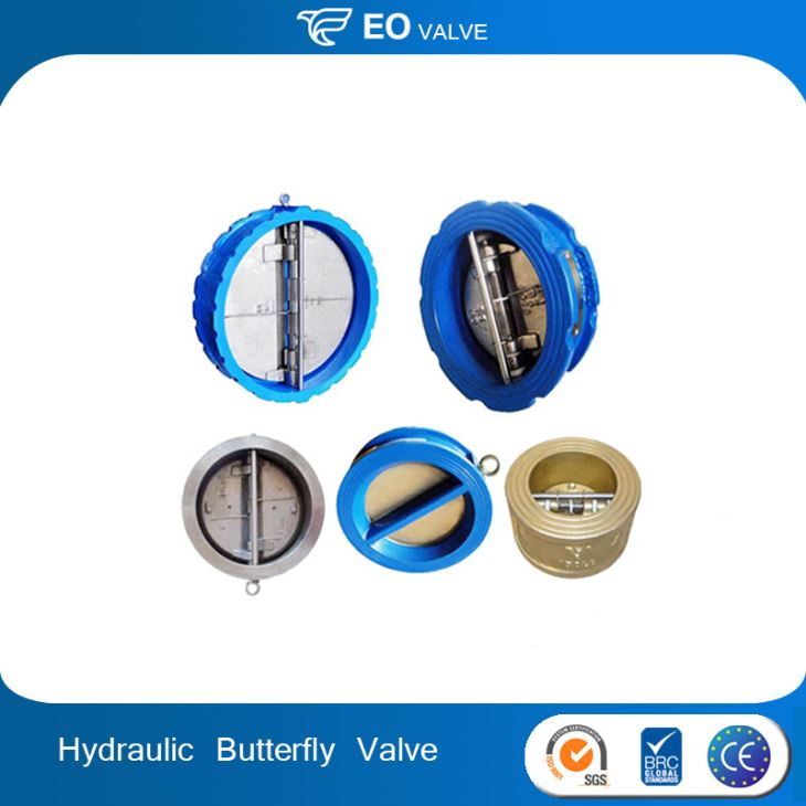 Ductile Iron Hydraulic Resilient Rubber Butterfly Type Check Valve