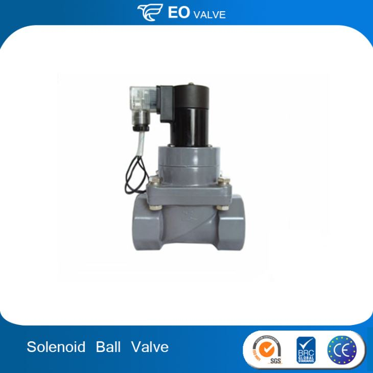 Electric Water Pool Ball Valve Plastic PVC Flange Solenoid Valve