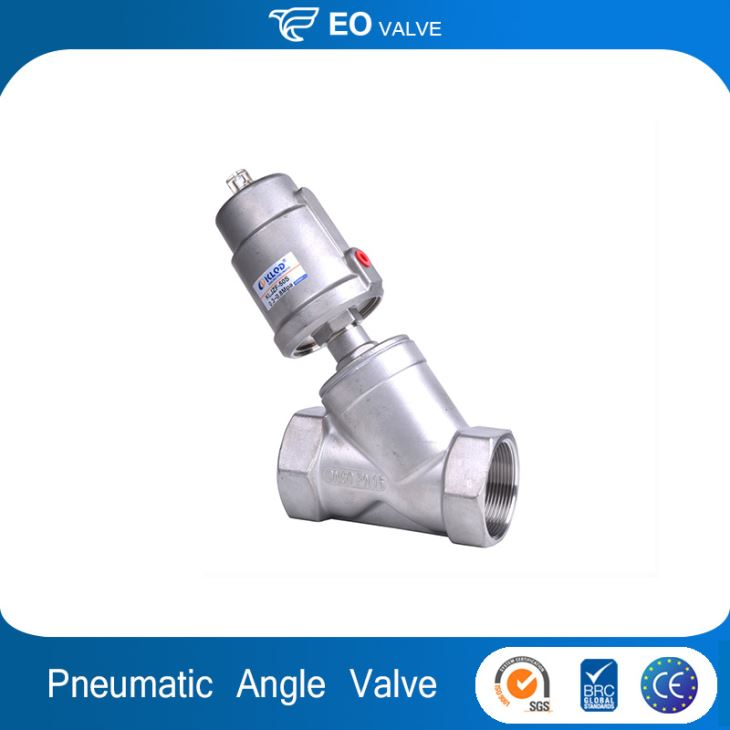 Half Inch Pneumatic Actuated Stainless Steel Angle Seat Valve