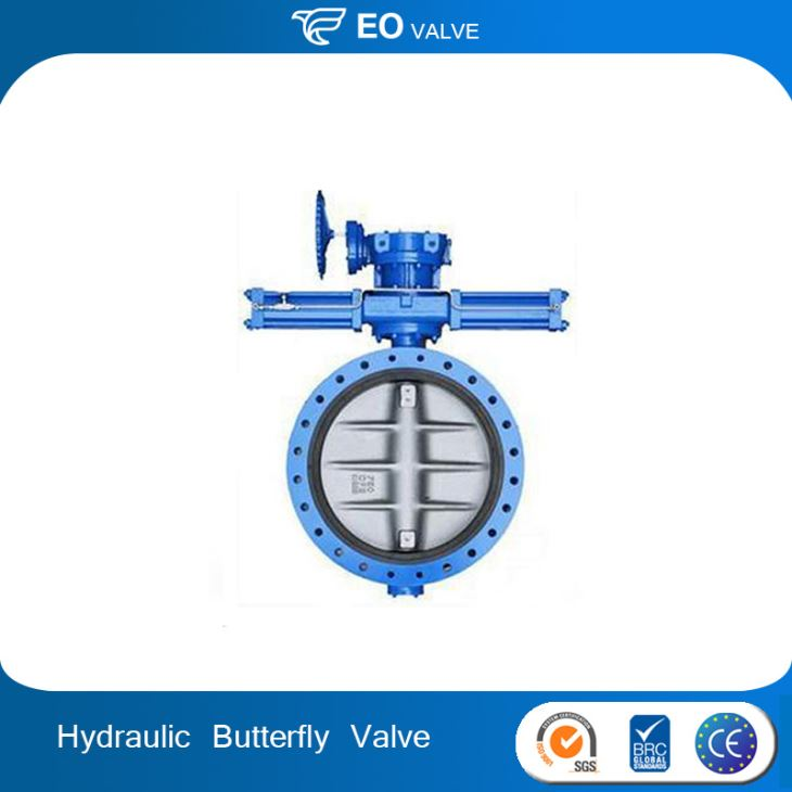 High Quality Hydraulic Control Soft Metal Hard Seal Butterfly Valve