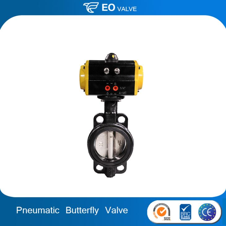 Pneumatic Butterfly Valve With High Performance Pneumatic Valve Actuator