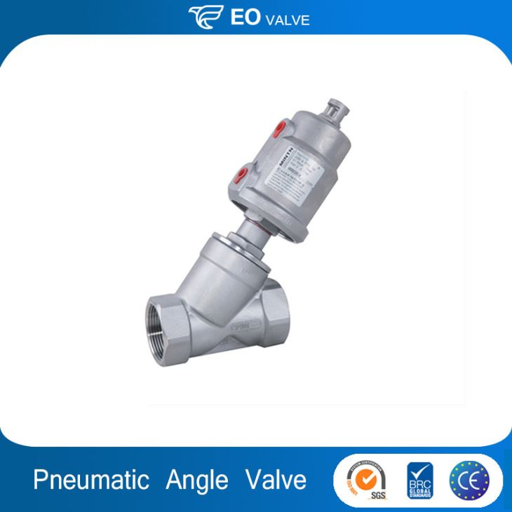 Q3 Pneumatic Stainless Steel Thread Ends Angle Seat Valve
