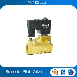 Brass Stainless Steel Diaphragm Pilot Operated 12 Volt Solenoid Valve