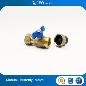 Butterfly Handle Brass PE Manual Ball Valve Union Valve