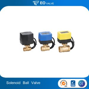 Dc Solenoid Air Control Controlled Water Treatment Ball Valve