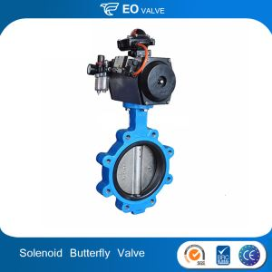 Double Effect Automatic Control Lug Butterfly Valve With Solenoid Valve