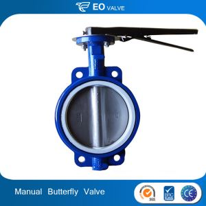 Ductile Iron 4 Inch Manual Wafer Butterfly Valve For Cement