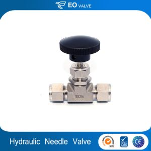 Hydraulic Water Needle Valve With Flow Meter