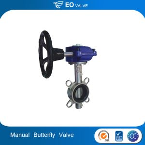 Manual Actuated Wafer Type Butterfly Valve