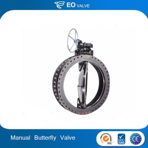 Manual Flanged Double Eccentric Butterfly Valve