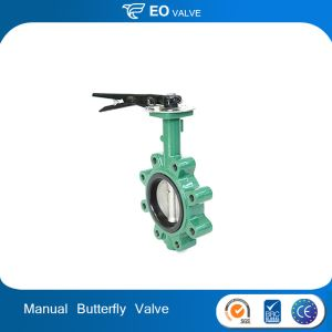 Manual PN16 Cast Iron Wafer Lug Butterfly Valve For Drain