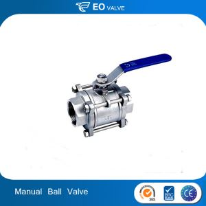 Metal Seat Manual 3 Way Stainless Steel Ball Valve