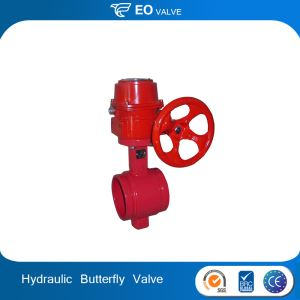Motorized Control Grooved Butterfly Hydraulic Control Valve
