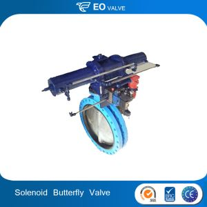 Pneumatic Hydraulic Rotory Actuator Butterfly Valve With Solenoid Valve
