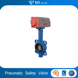 Safety Stainless Steel Sanitary Pneumatic Wafer Butterfly Valve