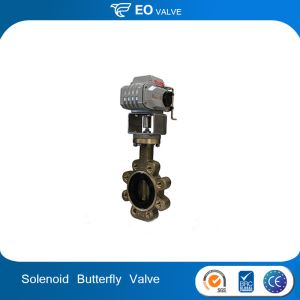 Solenoid Pneumatic Actuated DN150 PN 25 Butterfly Valve