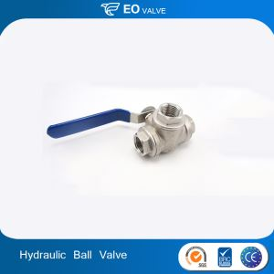 Stainless Steel 3 Way Hydraulic Steel Valve Male Thread Ball Valve