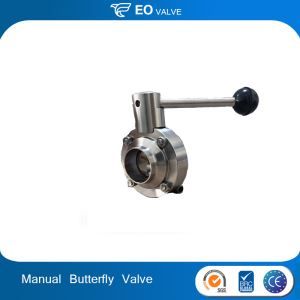 Stainless Steel 304 316 Manual Clamp Sanitary Butterfly Valve