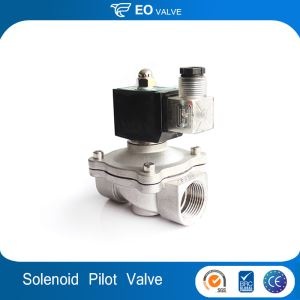 Stainless Steel Low Pressure Normally Closed Pilot Shutoff 12v Gas Solenoid Valve