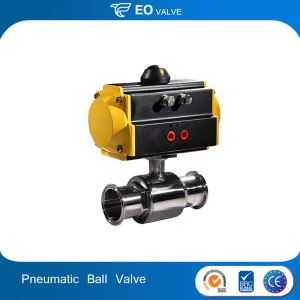 Stainless Steel Pneumatic Brass Ball Valve Sanitary Three Way Ball Valve