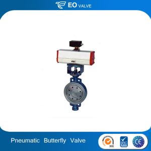 Three Eccentric Metal Hard Pneumatic Actuator Butterfly Valve