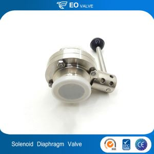 Three Piece Butterfly Diaphragm Solenoid Water Stainless Steel Ball Valve