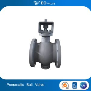 WCB Body Ceramic Lined Pneumatic Actuated Flange Ball Valve