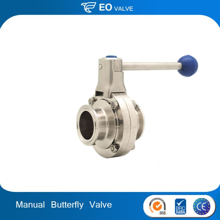 Stainless Steel Tri Clamp Manual Sanitary Butterfly Valve
