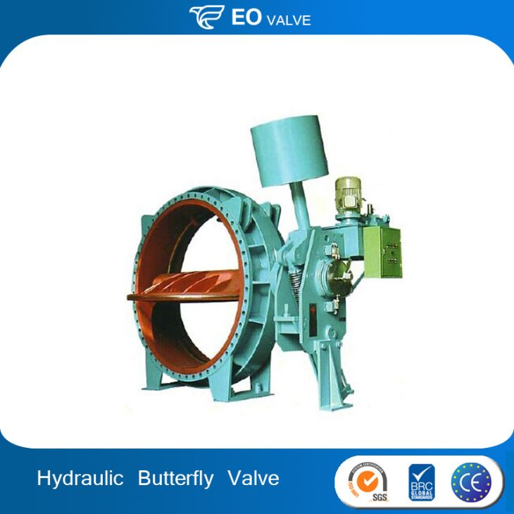 Water Turbine Inlet Pressure Hydraulic Operated Butterfly Valve