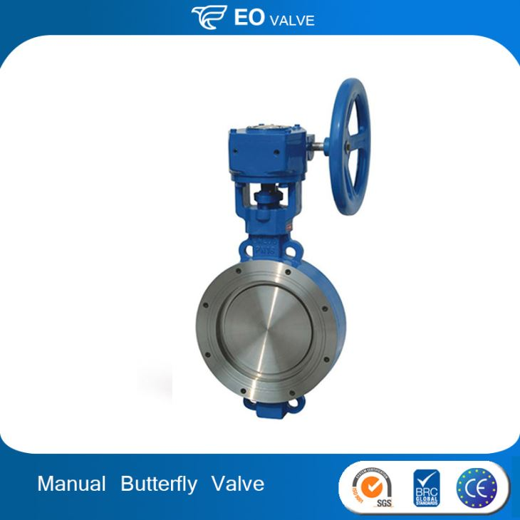 WCB Triple Eccentric Metal Seat 10 Inch Manual Wafer Butterfly Valve